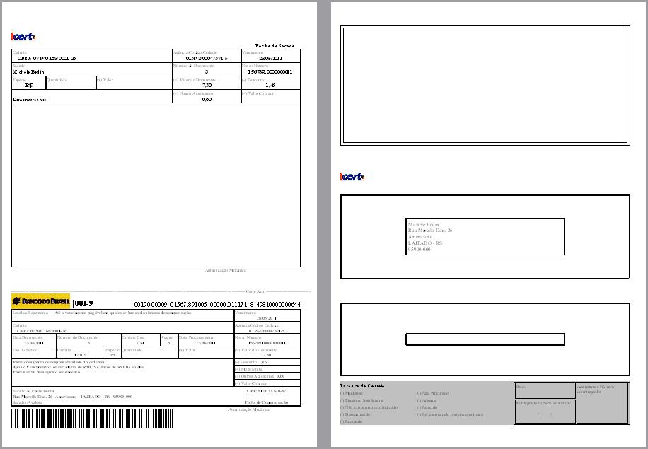 Boletos - Layout de Boletos - Emissor NF-e » Financeiro