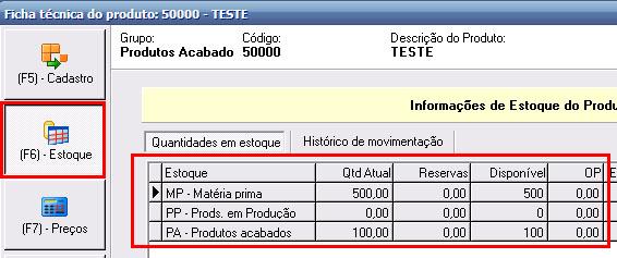 7b5b51d5cf Dica  A melhor maneira de realizar a verificação da quantidade em estoque  de determinado produto é através do caminho exibido nos passos acima
